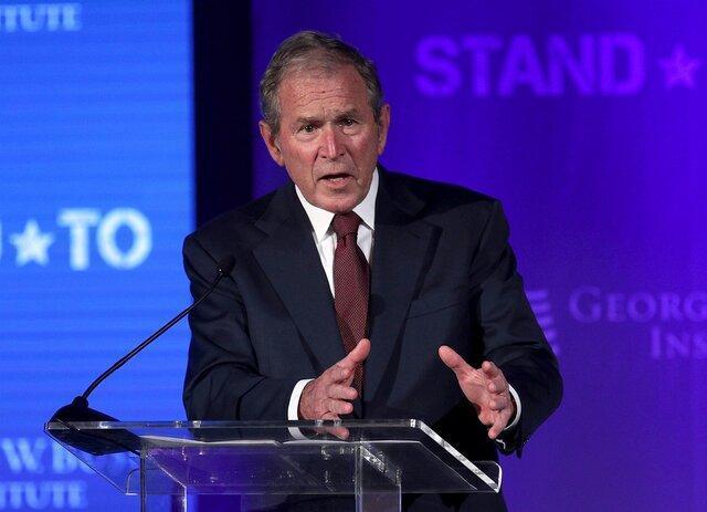 جورج بوش خواهان رسیدگی به اعتراضات اخیر آمریکا شد