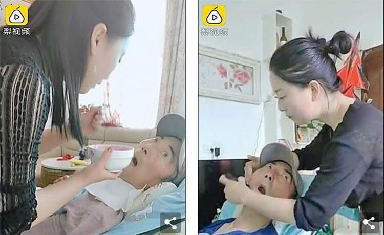 فداکاری تکان دهنده یک زن چینی ، 15 سال پرستاری از پدری که زندگی نباتی دارد