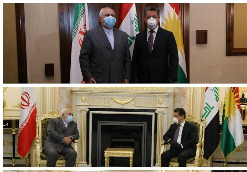 ظریف در کردستان عراق: همسایگان اولویت ما هستند