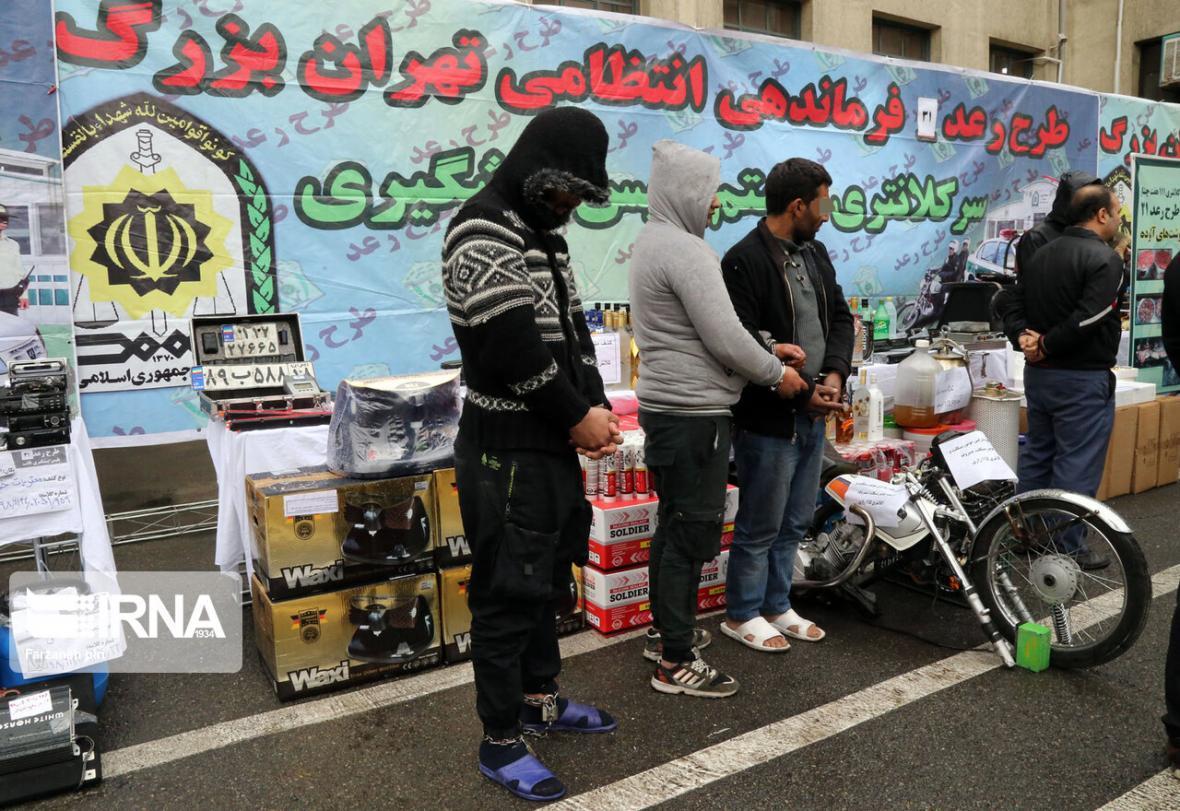 خبرنگاران 635 سارق در تهران دستگیر شدند