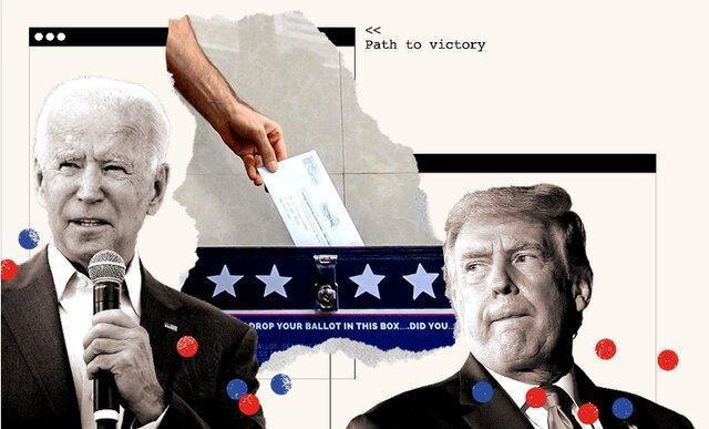خط و نشان های ترامپ و بایدن 2 روز مانده به انتخابات آمریکا