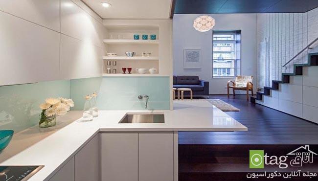 طراحی داخلی خانه کوچک 40 متری با دکوراسیونی بسیار شیک
