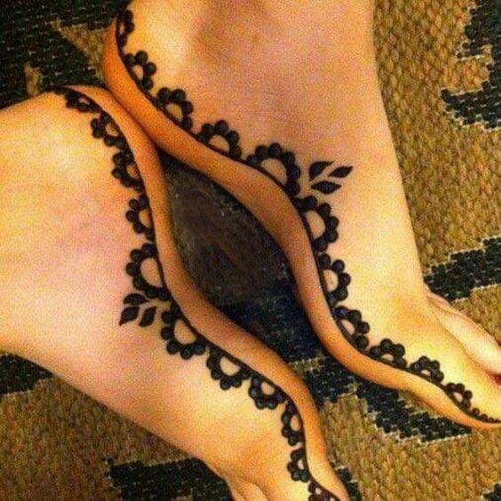 زیباترین مدل های حنا هندی برای هر قسمت از پا