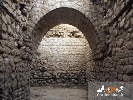 زیج منیژه سنگچین باقیمانده از عصر ساسانی در سرپل ذهاب، عکس