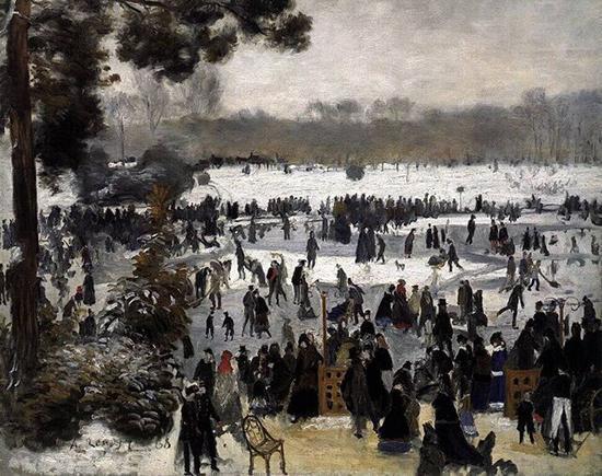 رد برف زمستان روی شاهکار های نقاشی